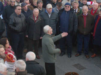 Harmony Choir at Church Corner, Falmouth, Cornwall, Christmas eve 2010.