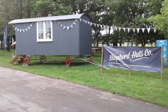 The Duchy Shepherd hut at the Royal Cornwall Show.