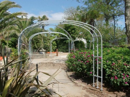 Victorian style rose arches for the Gyllingdune Gardens, Falmouth