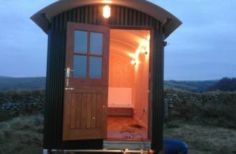 Duchy Shepherd Huts. Co. outside view