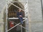 Matt Frost trial fitting church gates with Kevin Gerry