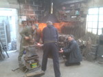 Matt Frost - Week 10 Assistant blacksmith with Kevin Gerry